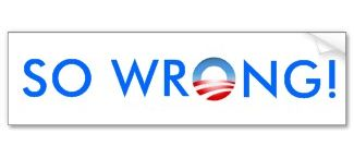 So Wrong bumpersticker