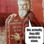 Written in stone...